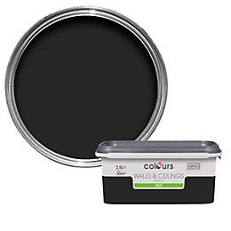 Colours Black Silk Emulsion Paint 2.5L
