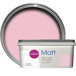 Colours Pink Pink Matt Emulsion Paint 2.5L