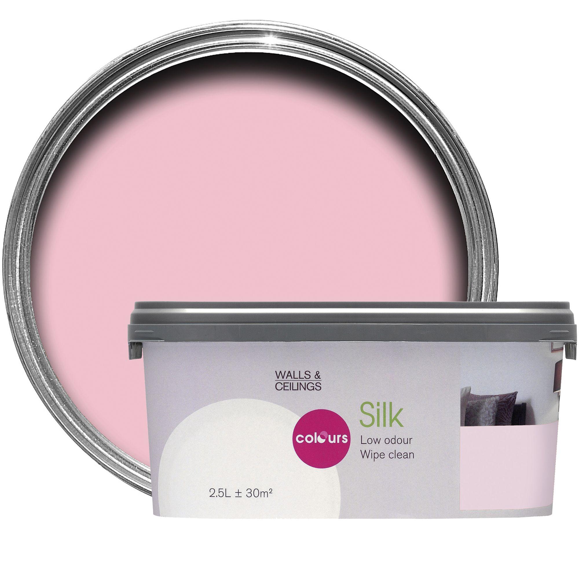 Colours Pink Pink Silk Emulsion Paint 2.5l