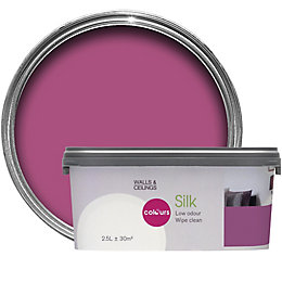 Colours Playful Pink Silk Emulsion Paint 2.5L
