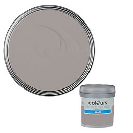 Colours Black Pepper Matt Emulsion Paint 50ml Tester