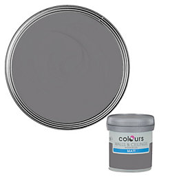 Colours Grey Slate Matt Emulsion Paint 50ml Tester