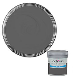 Colours Asphalt Matt Emulsion Paint 50ml Tester Pot
