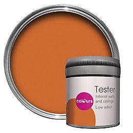 Colours Orange Matt Emulsion Paint 50ml Tester Pot