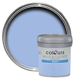 Colours Sky Matt Emulsion Paint 50ml Tester Pot