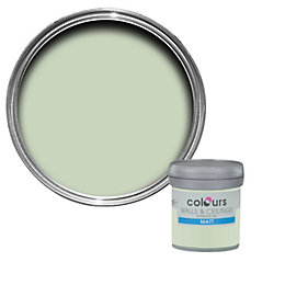 Colours Guava Green Matt Emulsion Paint 50ml Tester
