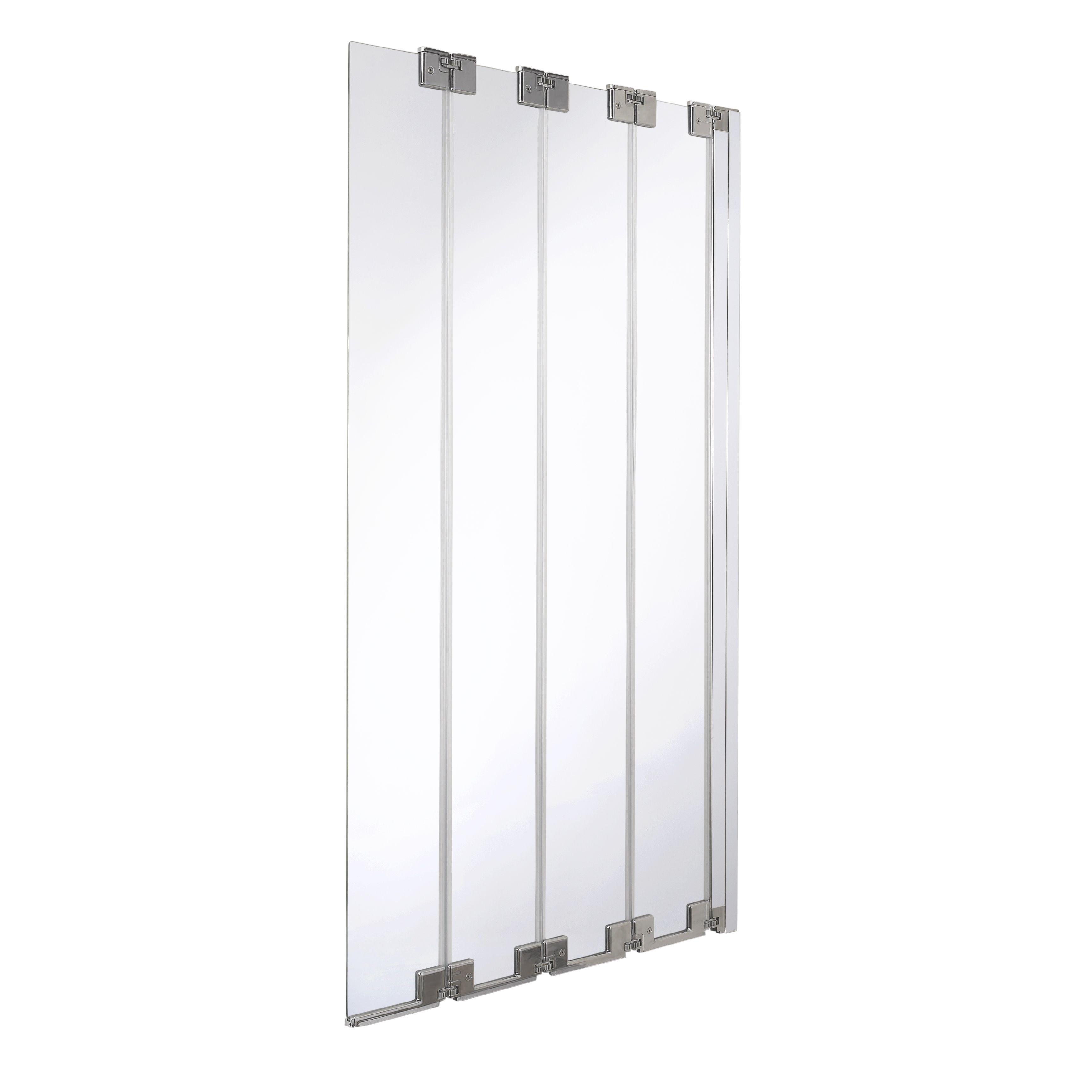 Cooke U0026 Lewis Seine Straight 4 Panel Frameless Folding Bath Screen (w)850mm