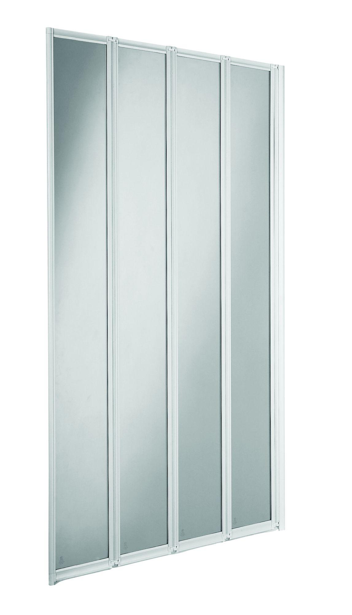 Cooke U0026 Lewis Nile Straight 4 Panel Folding Bath Screen (w)840mm