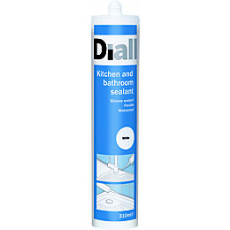 Diall Sanitary White Sealant 310 ml