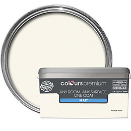 Colours Premium Antique White Matt Emulsion Paint 2.5L