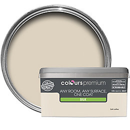 Colours Premium Soft Coffee Silk Emulsion Paint 2.5L