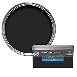 Colours Premium Black Matt Emulsion Paint 2.5L