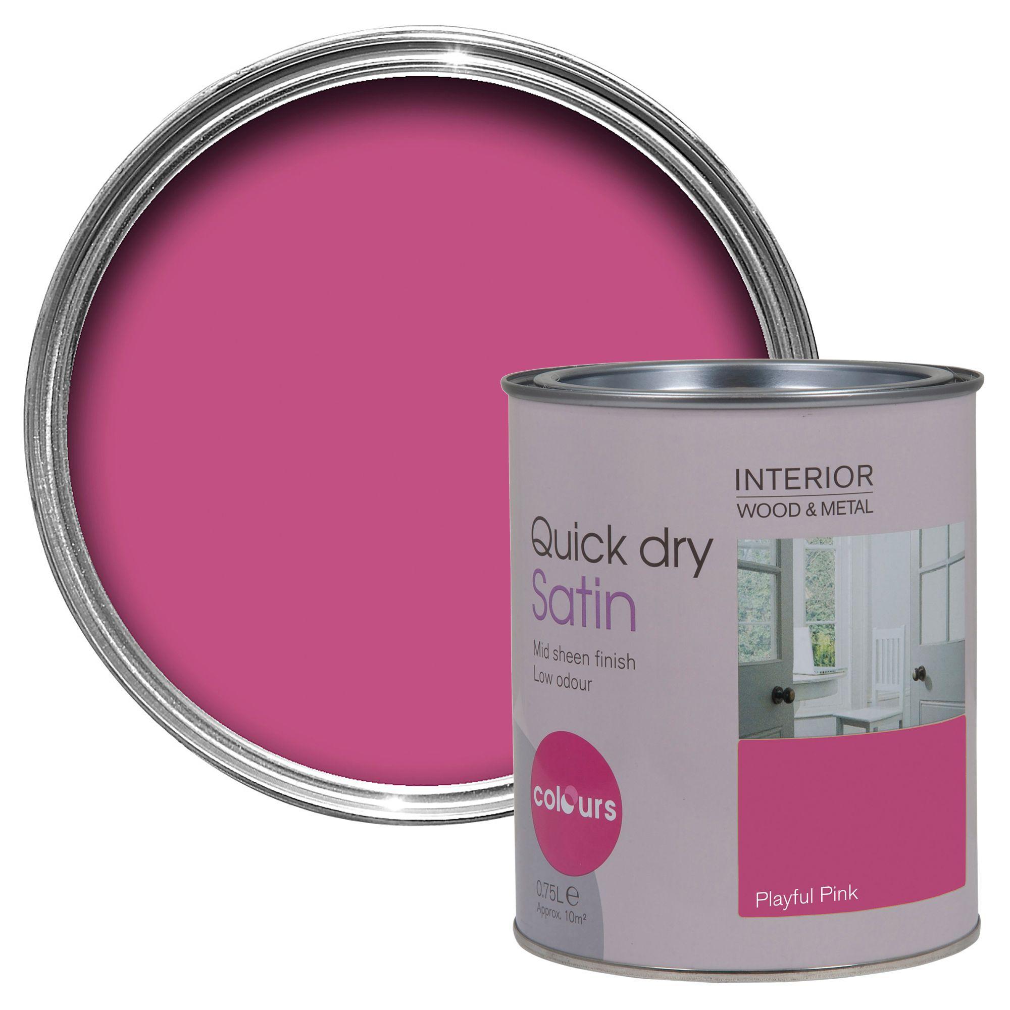 Colours Interior Playful Pink Satin Emulsion Paint 750ml
