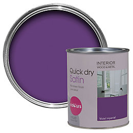 Colours Interior Violet Imperial Satin Emulsion Paint 750ml