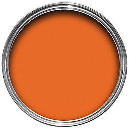Colours Internal Orange Satin Emulsion Paint 750ml