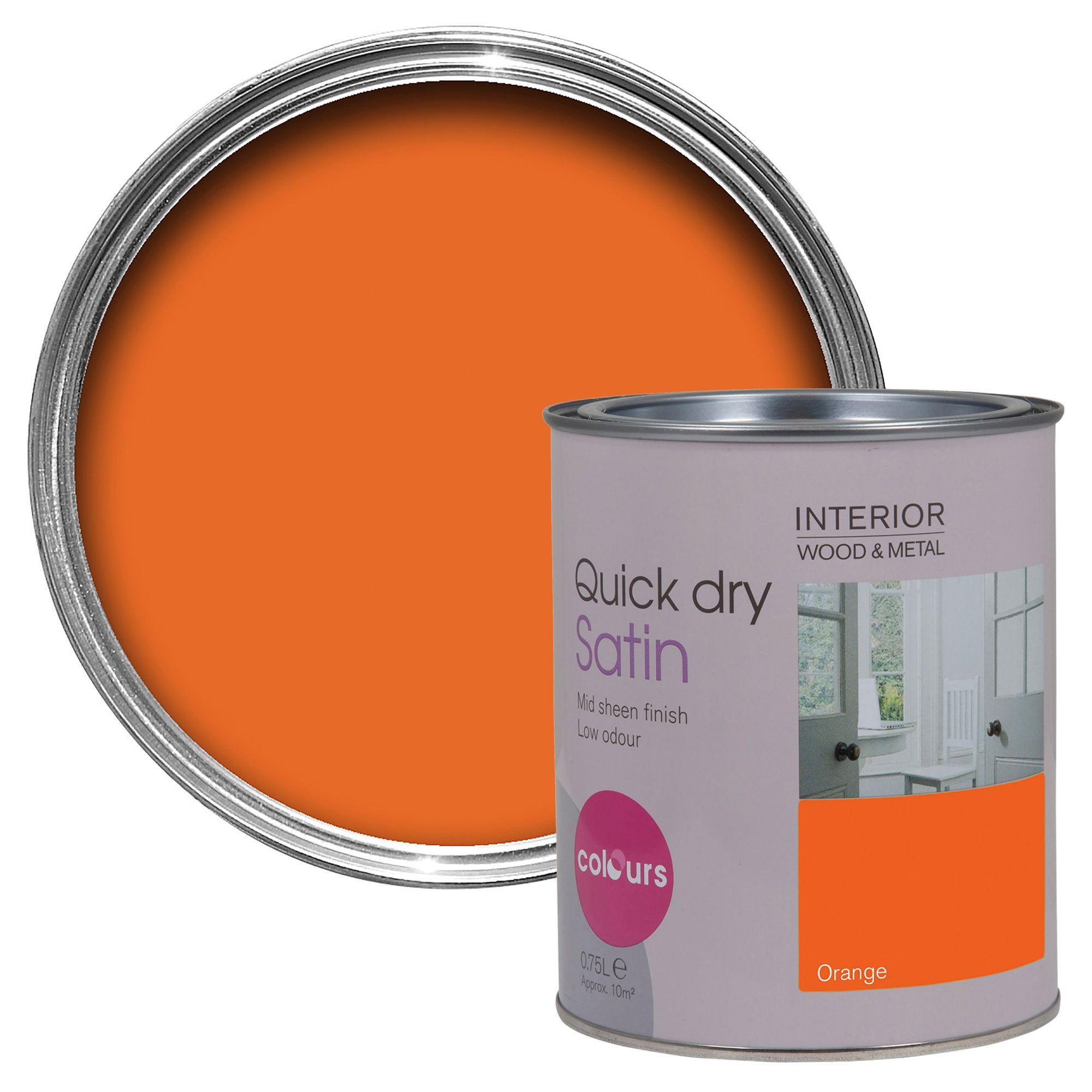 Colours Interior Orange Satin Emulsion Paint 750ml
