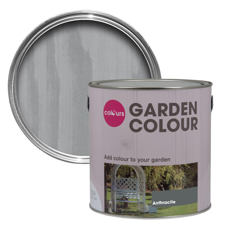 colours garden anthracite matt paint 2 5l departments. Black Bedroom Furniture Sets. Home Design Ideas