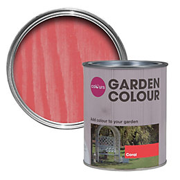 Colours Garden Coral Matt Woodstain 0.75L