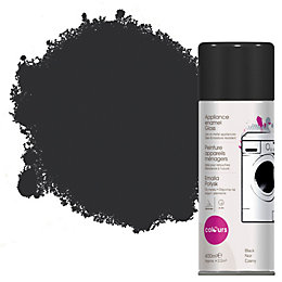 Colours Black Gloss Appliance Spray Paint 400 ml