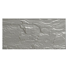 Silver Stone Effect Glass Wall Tile, (L)100mm (W)200mm