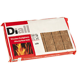DIALL WOODEN FIRELIGHTERS X28