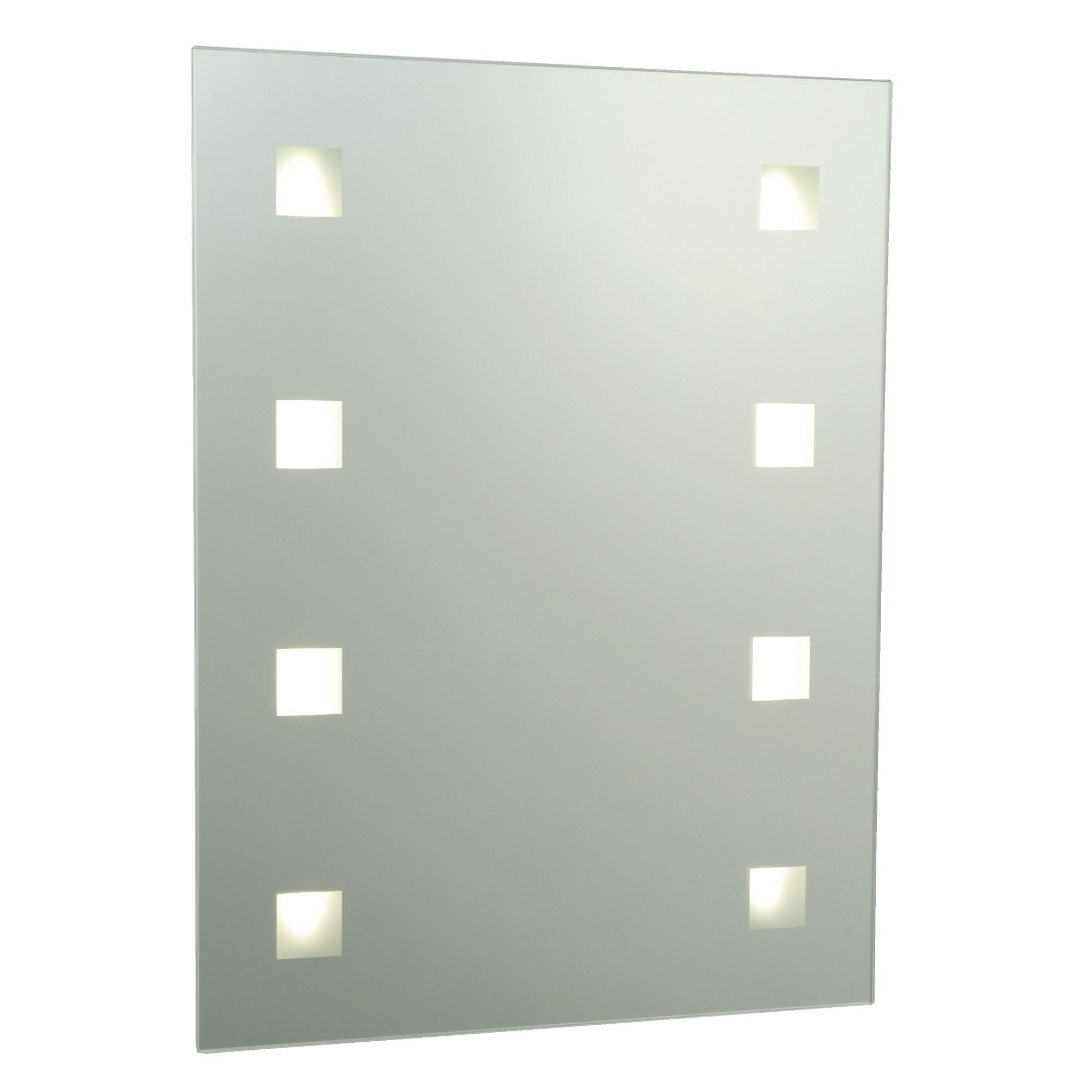 Cooke and lewis bathroom mirrors - Cooke Lewis Tajo Illuminated Rectangular Mirror W 450mm H 600mm Departments Diy At B Q