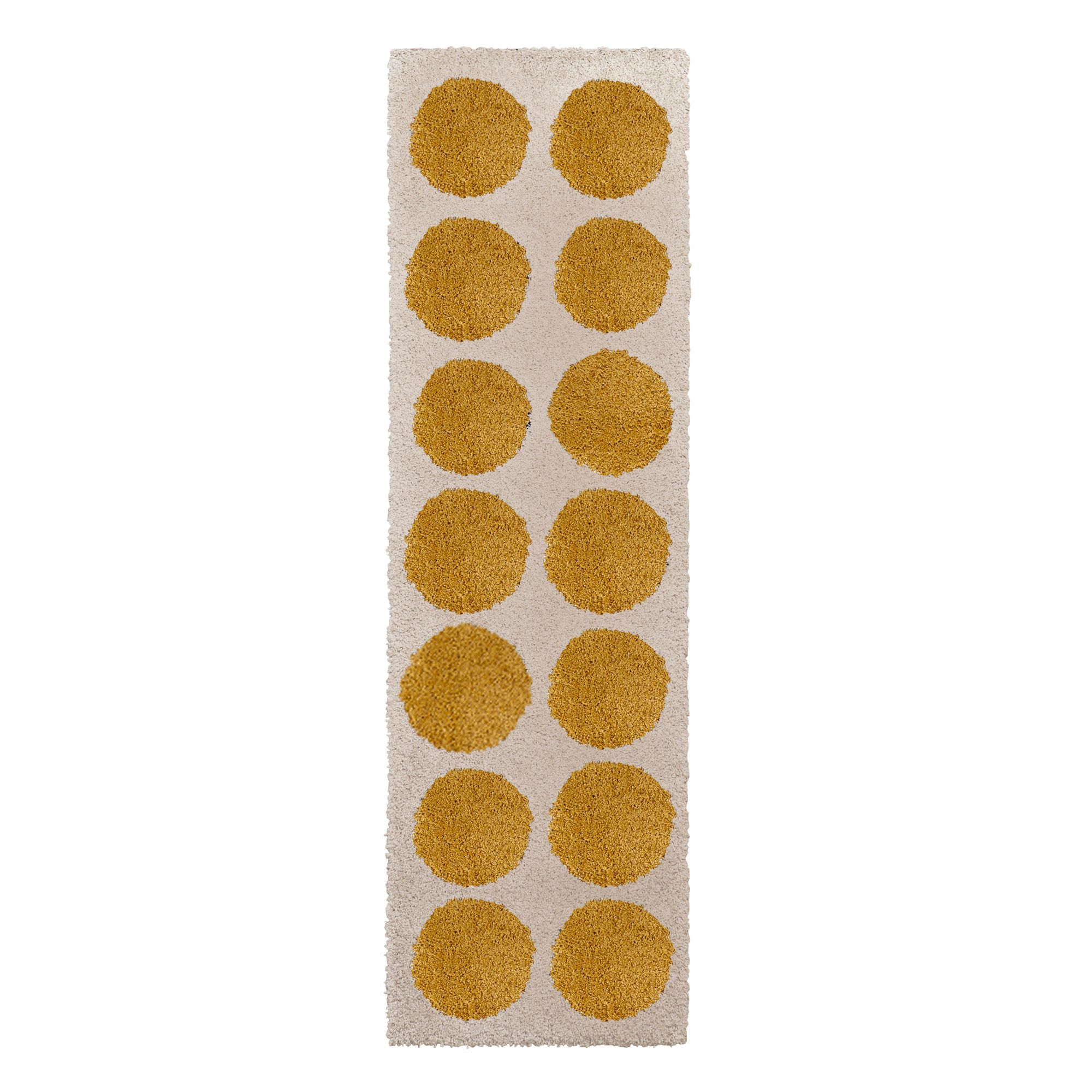 Colours Brady Cream & Yellow Spot Runner (l)2m (w)0.6 M