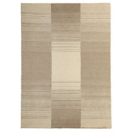Colours Farrah Cream & Grey Stripe Rug (L)1.7m