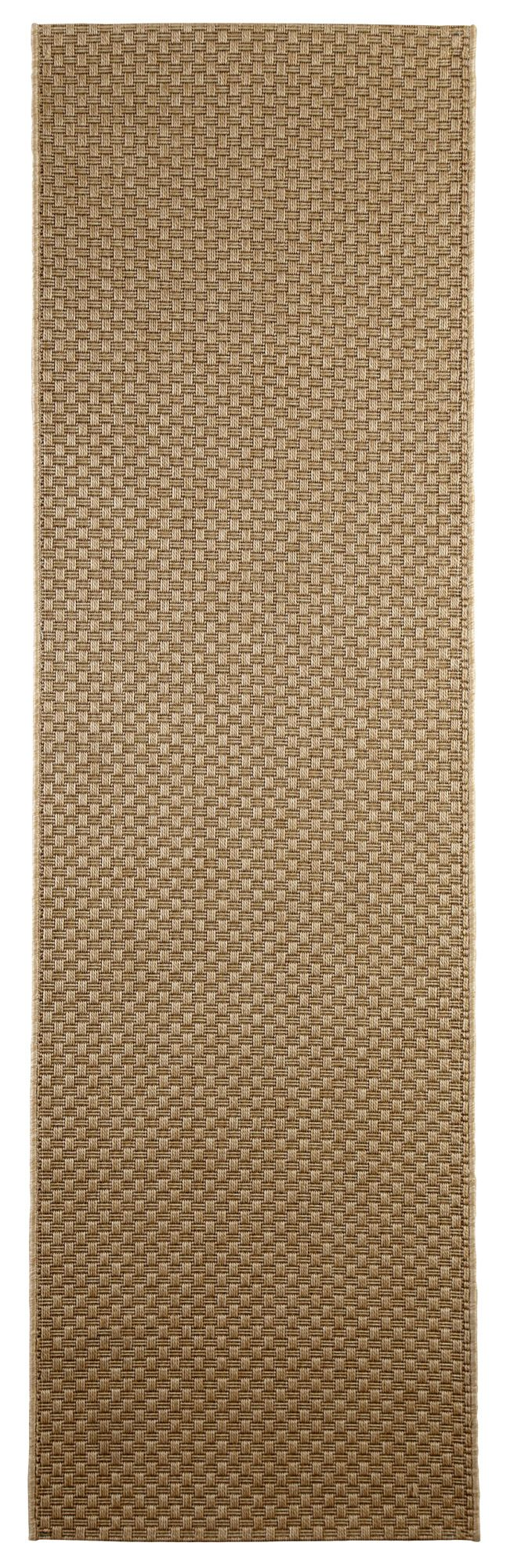 Colours Fearne Brown Synthetic Runner (l)2.0m (w)0.6m