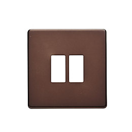 Colours Single Mocha Switch Front Plate