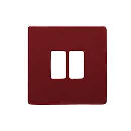 Colours Claret Switch Front Plate