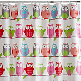 Cooke & Lewis Multicolour Alouette Owls Shower Curtain