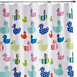 Cooke & Lewis Multicolour Pepo Ducks Shower Curtain