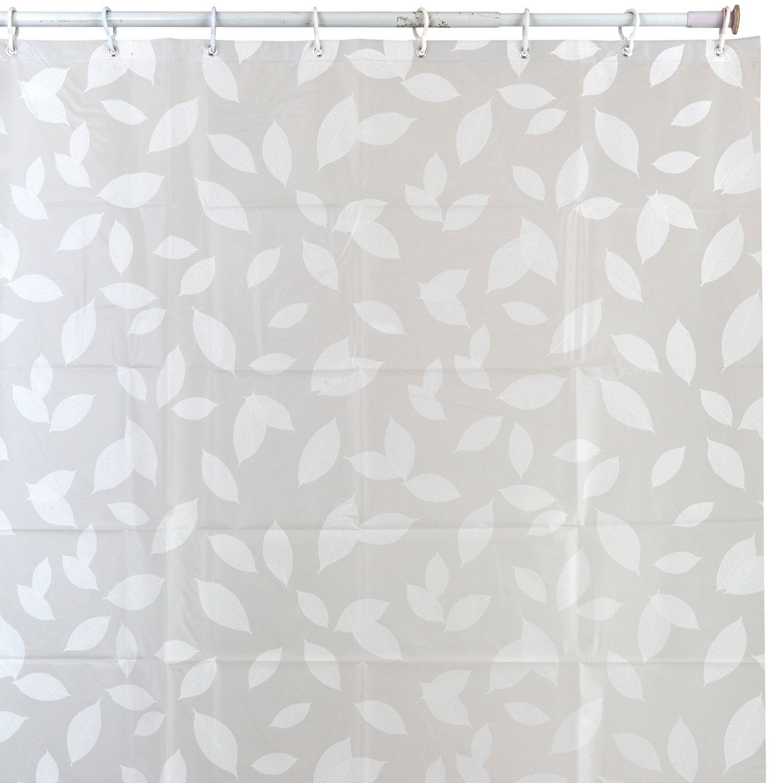 Cooke Lewis Light Grey White Selena Leaf Shower Curtain L 1800 Mm Departments Diy At B Q