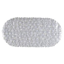 C&L Clear Pebbles PVC Anti-Slip Bath Mat (L)690mm