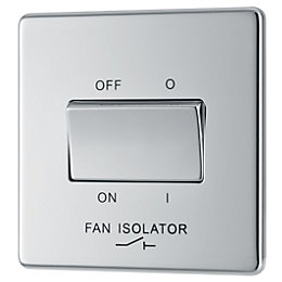Colours 10A Chrome Effect Fan Isolator Switch