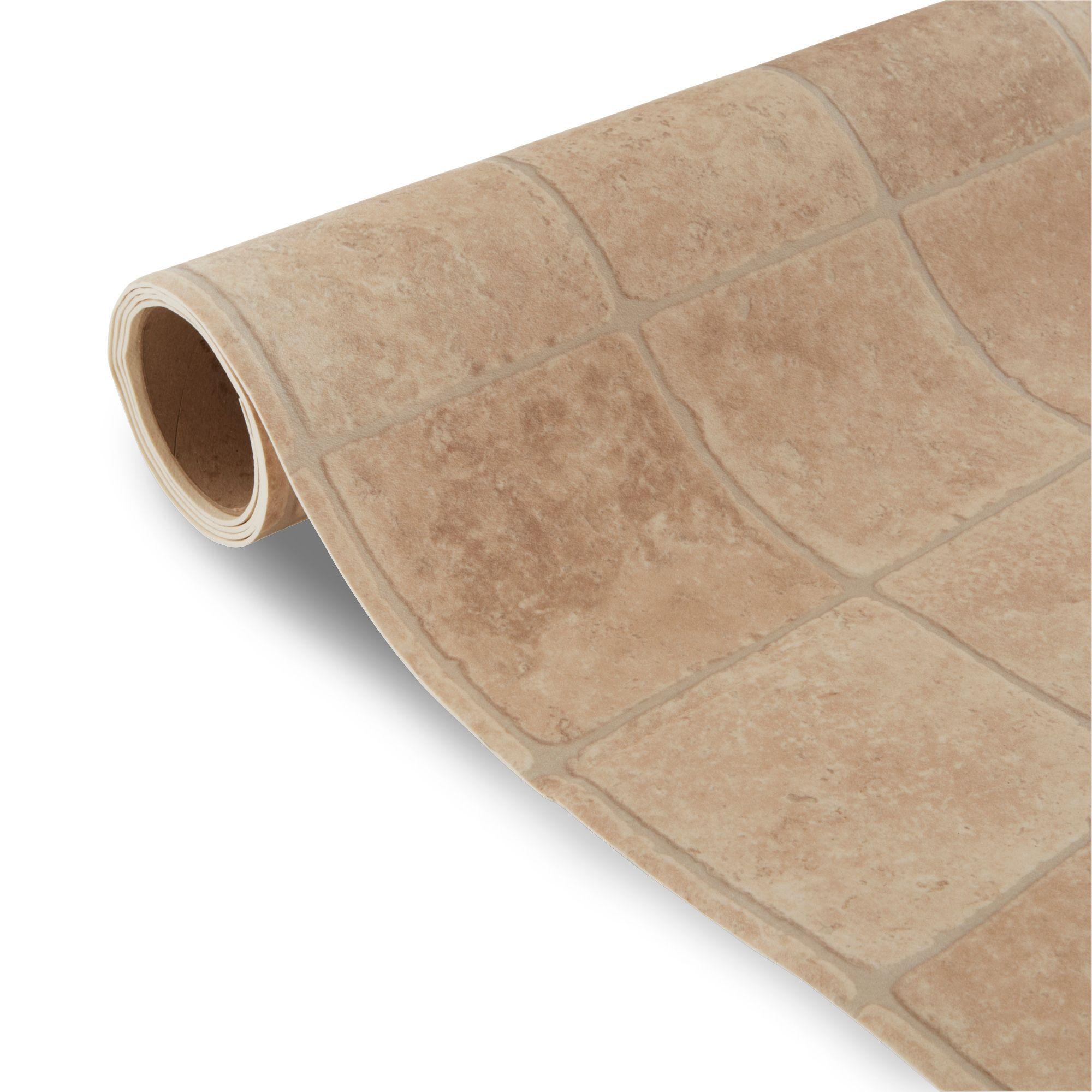 Valiha Cream Tile Effect Vinyl 4 M²