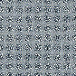 Colours Flutina Blue Mosaic Effect Vinyl 4m² Sheet