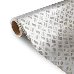 Colours Tabla Silver Tile Effect Vinyl 6m² Sheet
