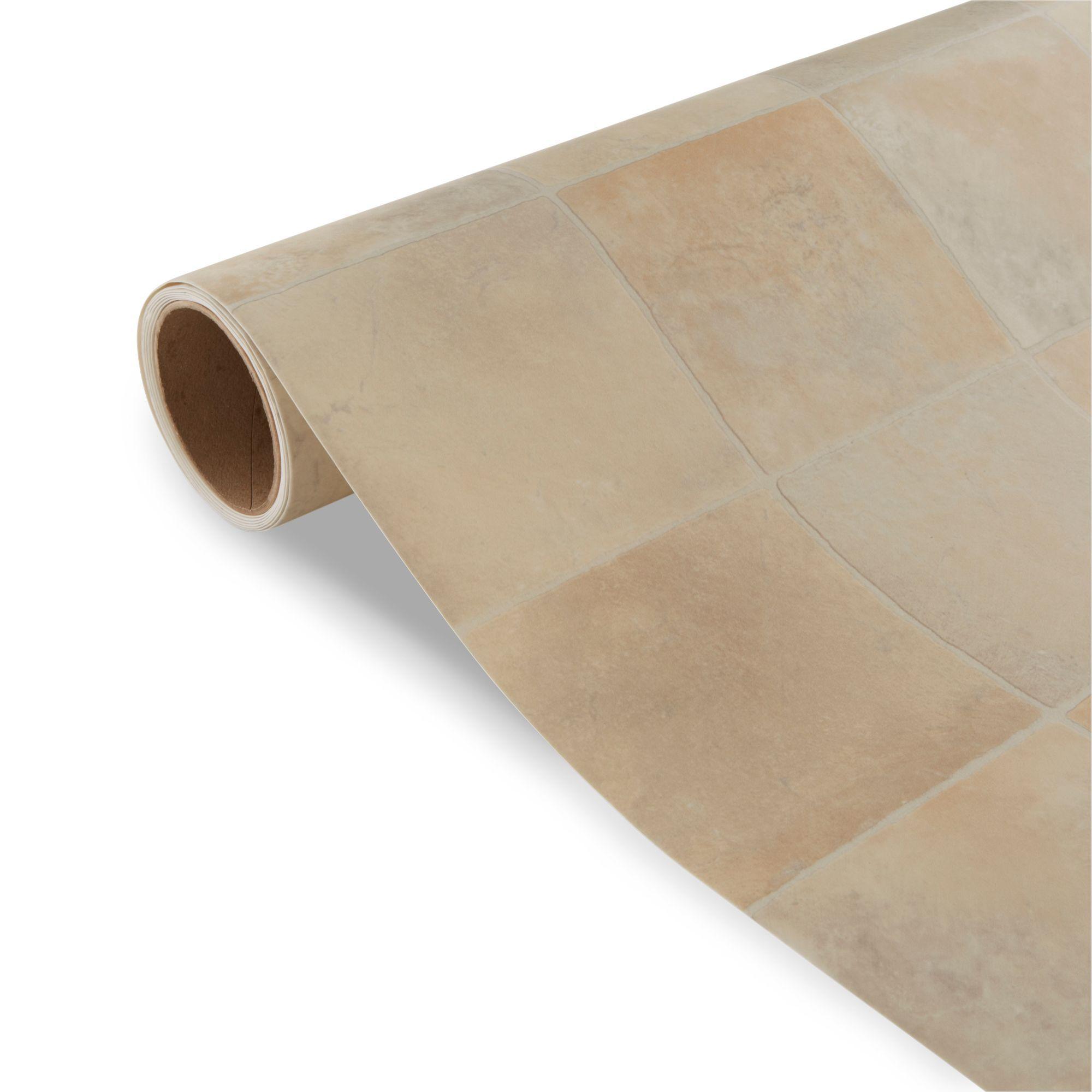 Kennedy Beige Tile Effect Vinyl 6 M²