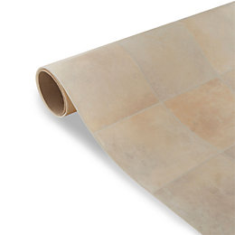 Kennedy Beige Tile Effect Vinyl 4 m²