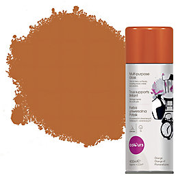 Colours Orange Gloss Spray Paint 400 ml
