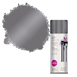 Colours Silver Metallic Effect Spray Paint 400 ml