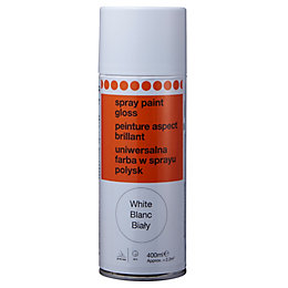 B&Q White Gloss Spray Paint 400 ml