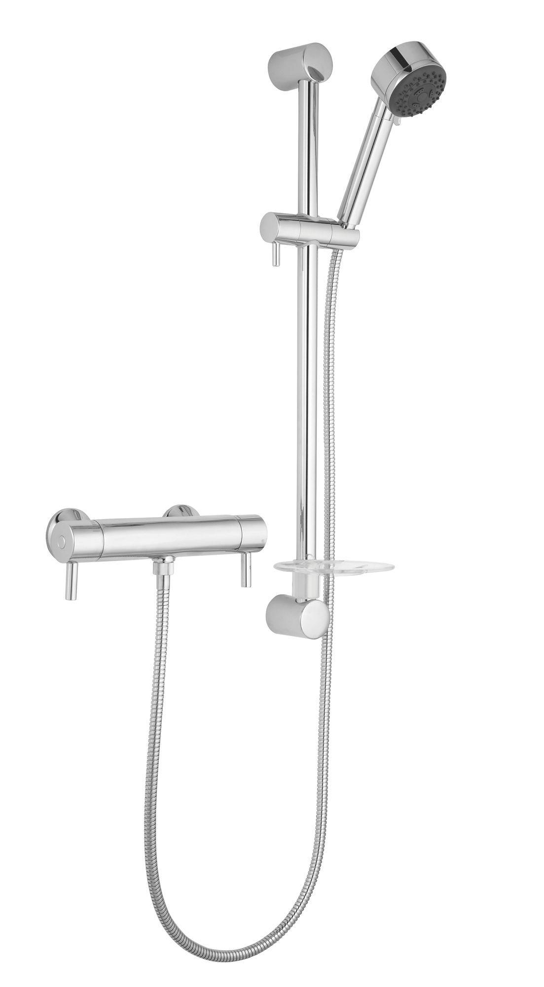 Cooke & Lewis Cirque Chrome Thermostatic Bar Mixer Shower