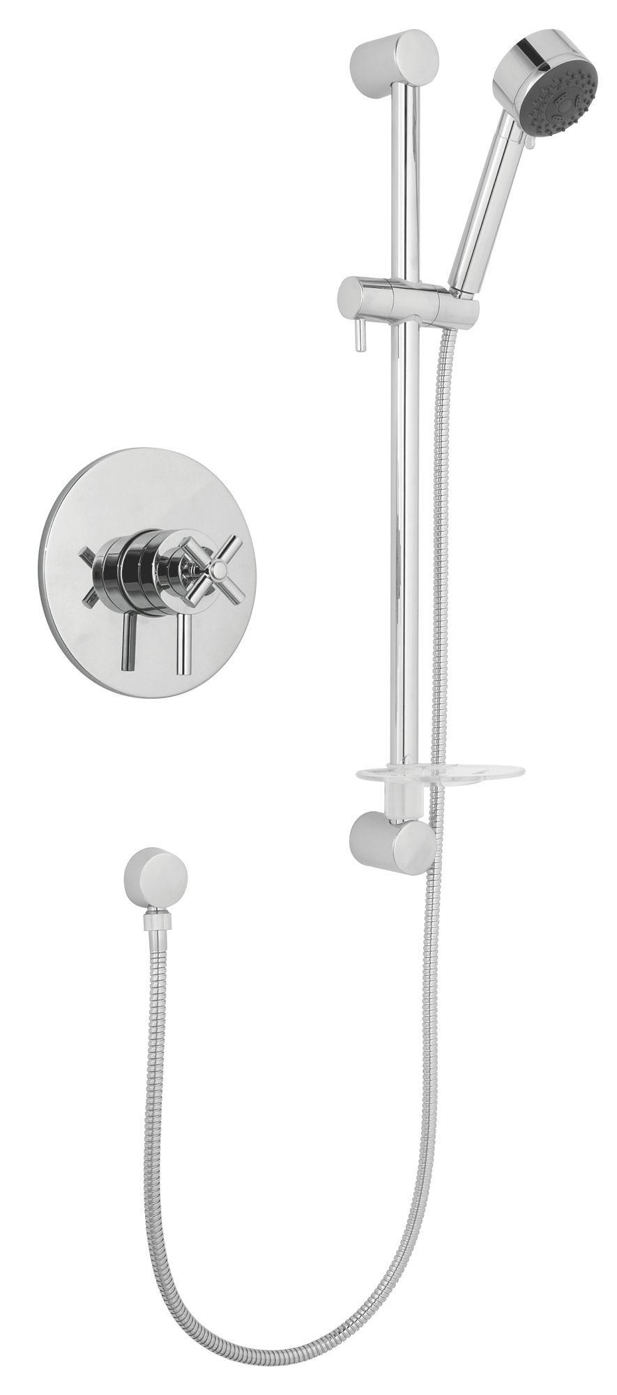 Cooke & Lewis Quattre Chrome Thermostatic Concentric Mixer Shower