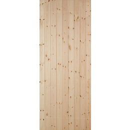 Ledged & Braced Redwood Timber Back Door, (H)1981mm