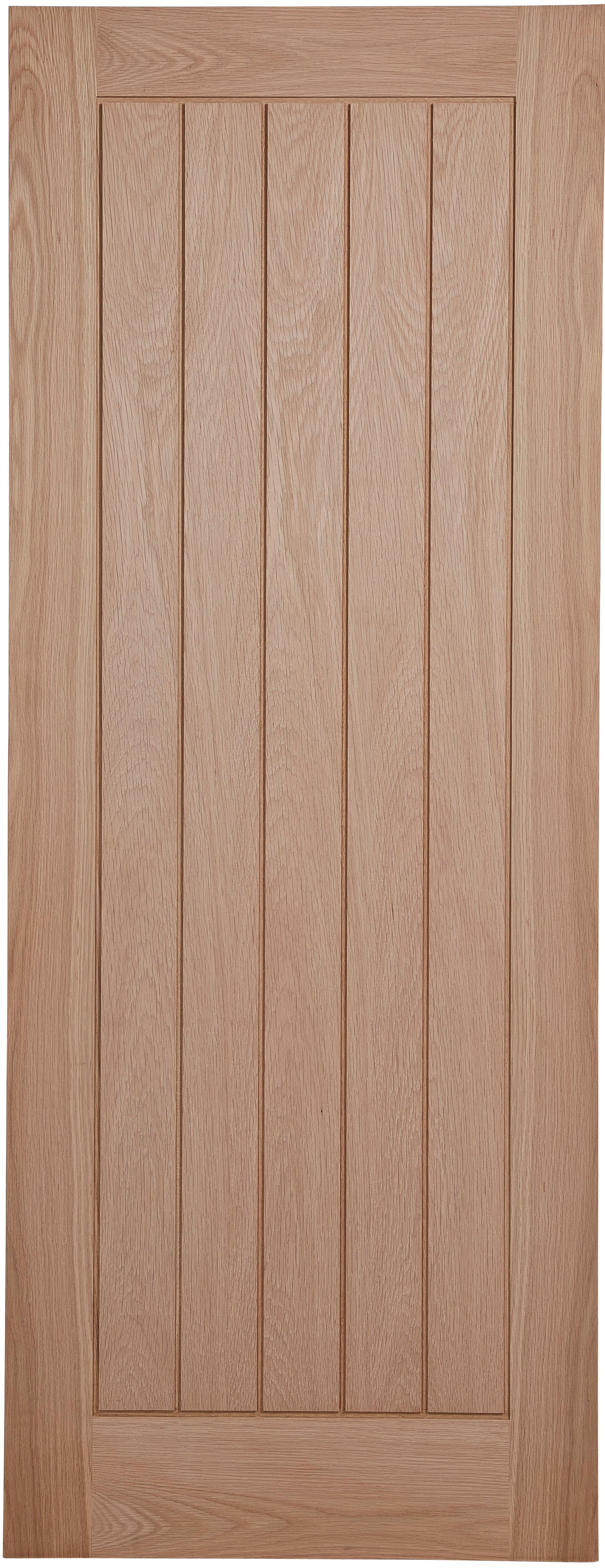 Cottage Panel Oak Veneer Unglazed Internal Fire Door, (h)1981mm (w)762mm