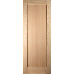 1 Panel Shaker Oak Veneer Internal Unglazed Door,