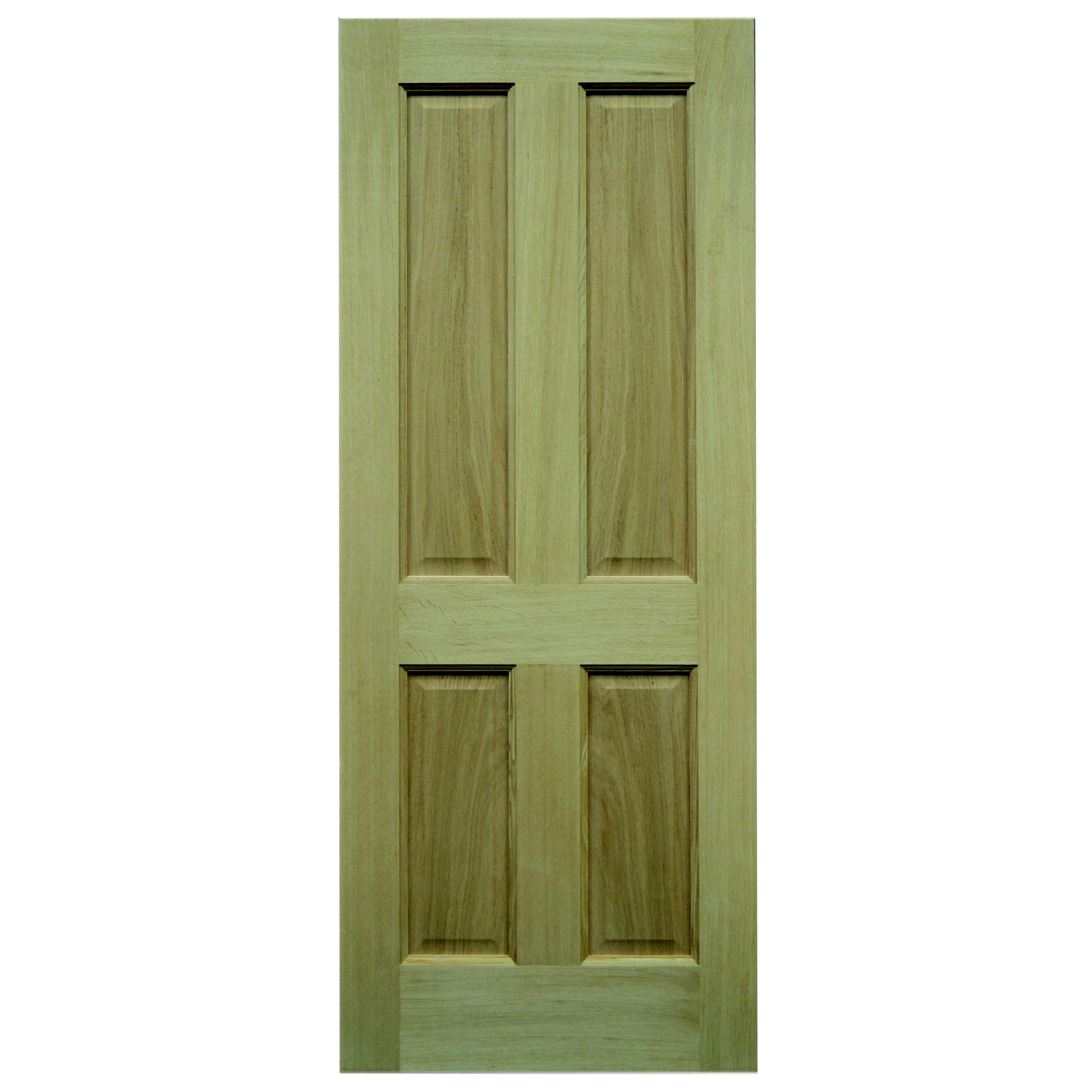 4 panel oak veneer unglazed external front back door h for External back door